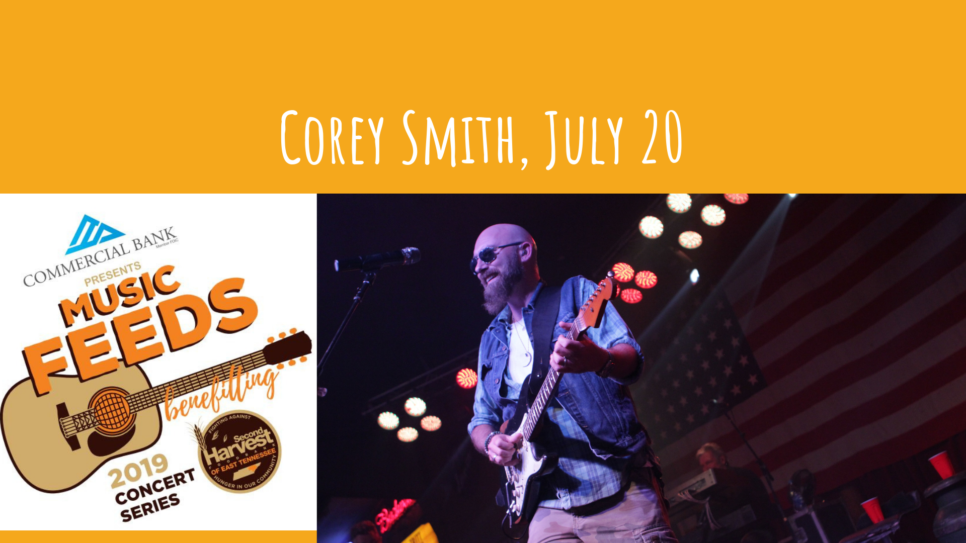 Music Feeds: Corey Smith – Second Harvest of East Tennessee