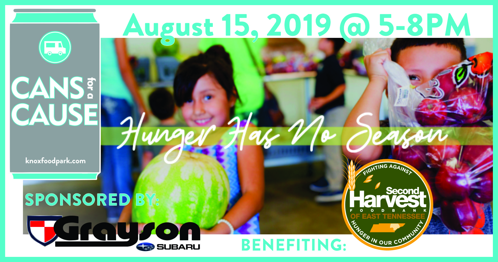 Second Harvest ETN cans for a cause